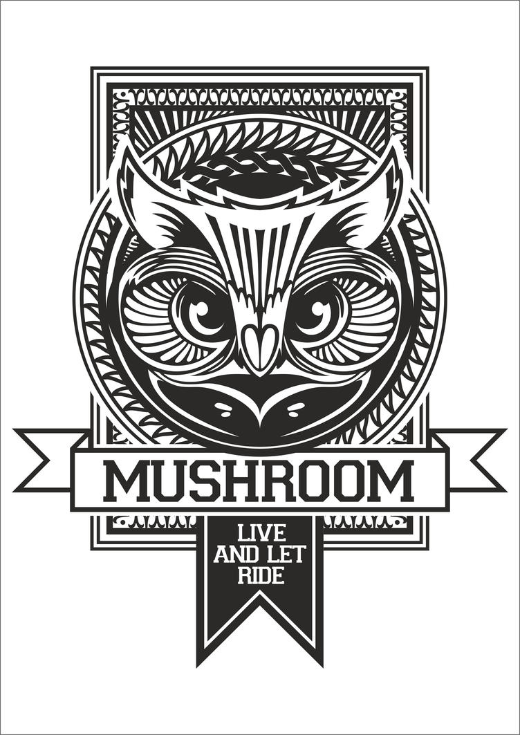 Mushroom t shirt design owl by meetvandal on deviantart T shirt with owl design