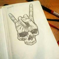 Skull \m/ by Lyza2000