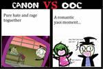Meme CanonVsOOC Zim and Dib