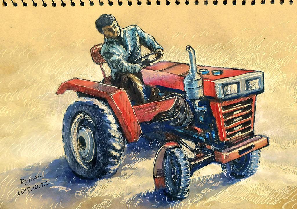 Pen watercolor sketchdrawing by qiyuan