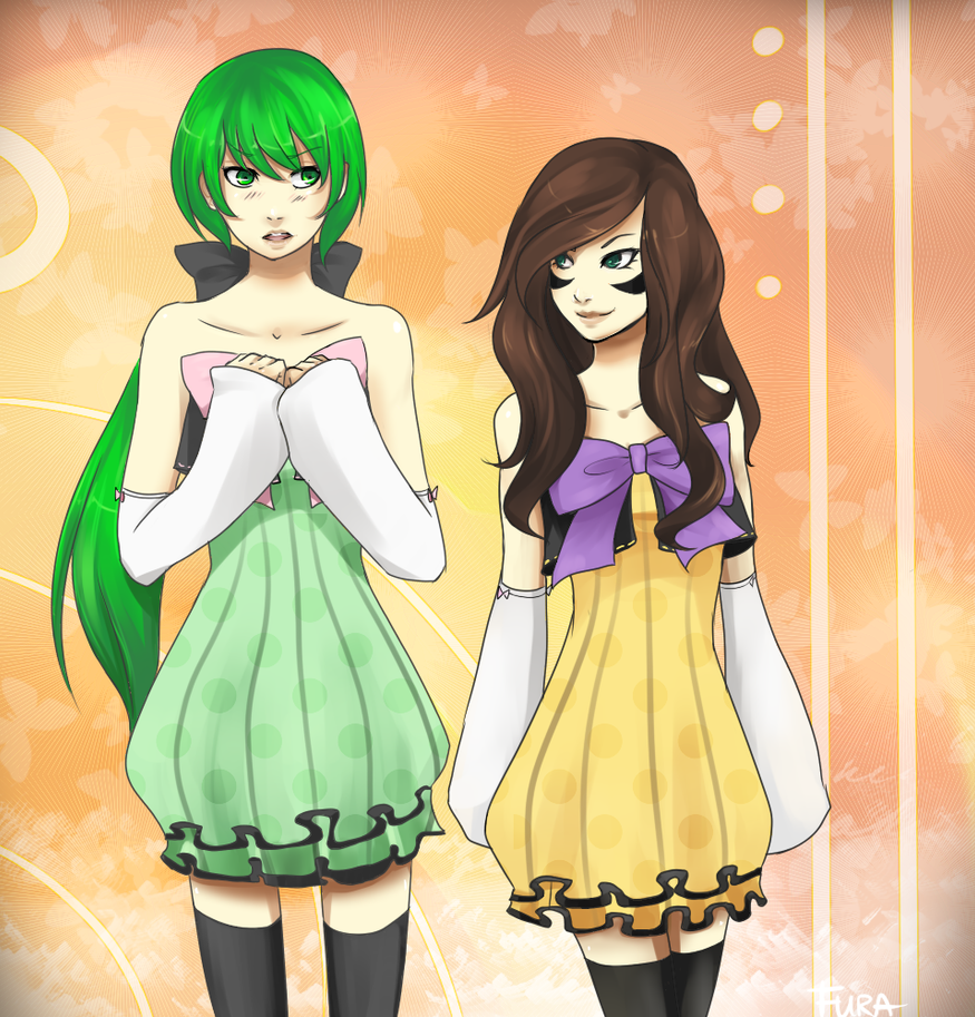 Colorful Melody - Midori and Shura by Katfura