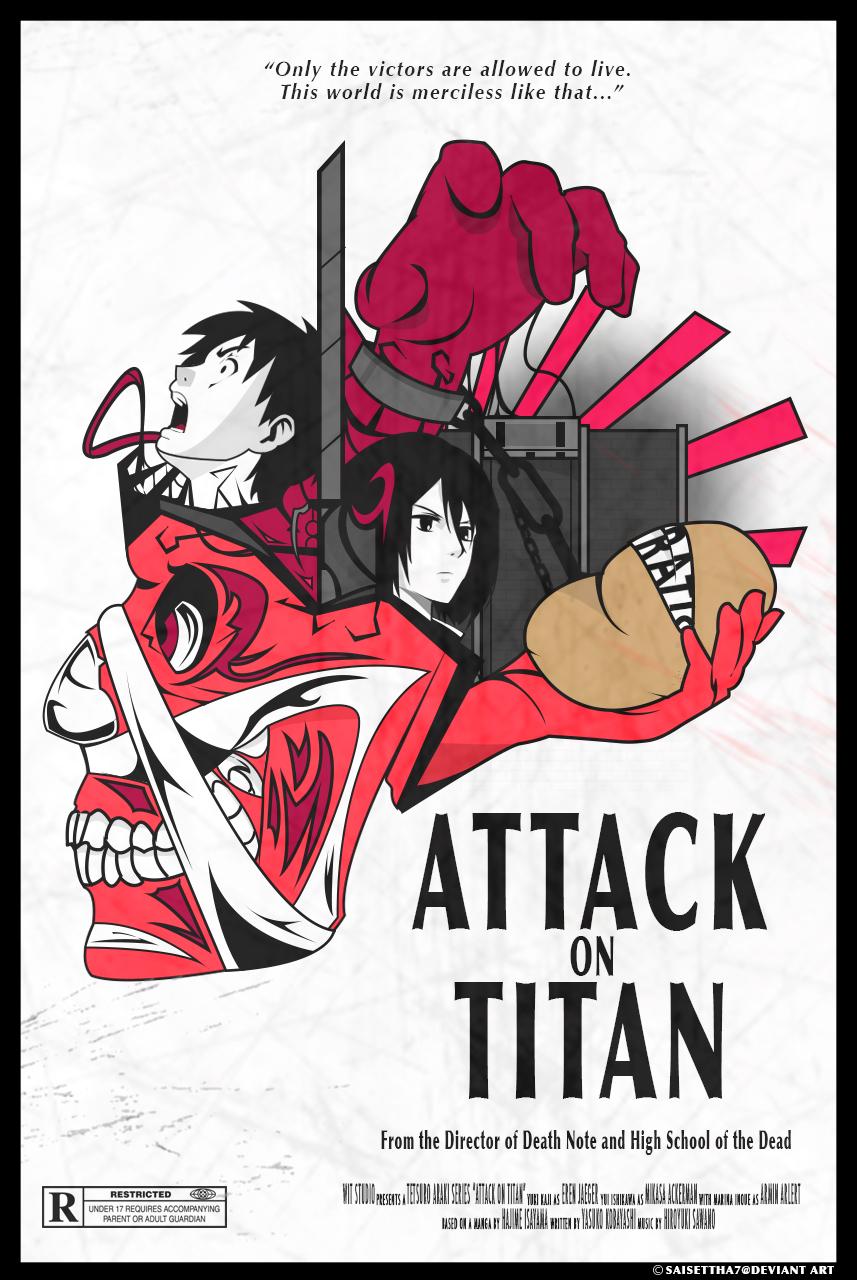 Attack on Titan Poster (Shingeki no Kyojin) by Saisettha7