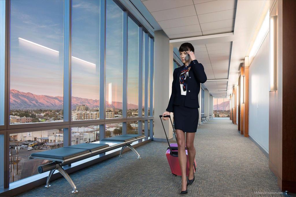 Flight attendant by MyLaLe