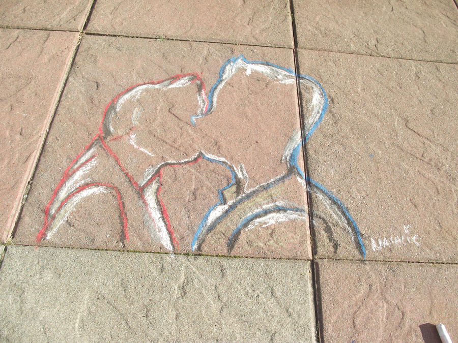 Chalk Klaine :D by Edwards-daughterxoxo