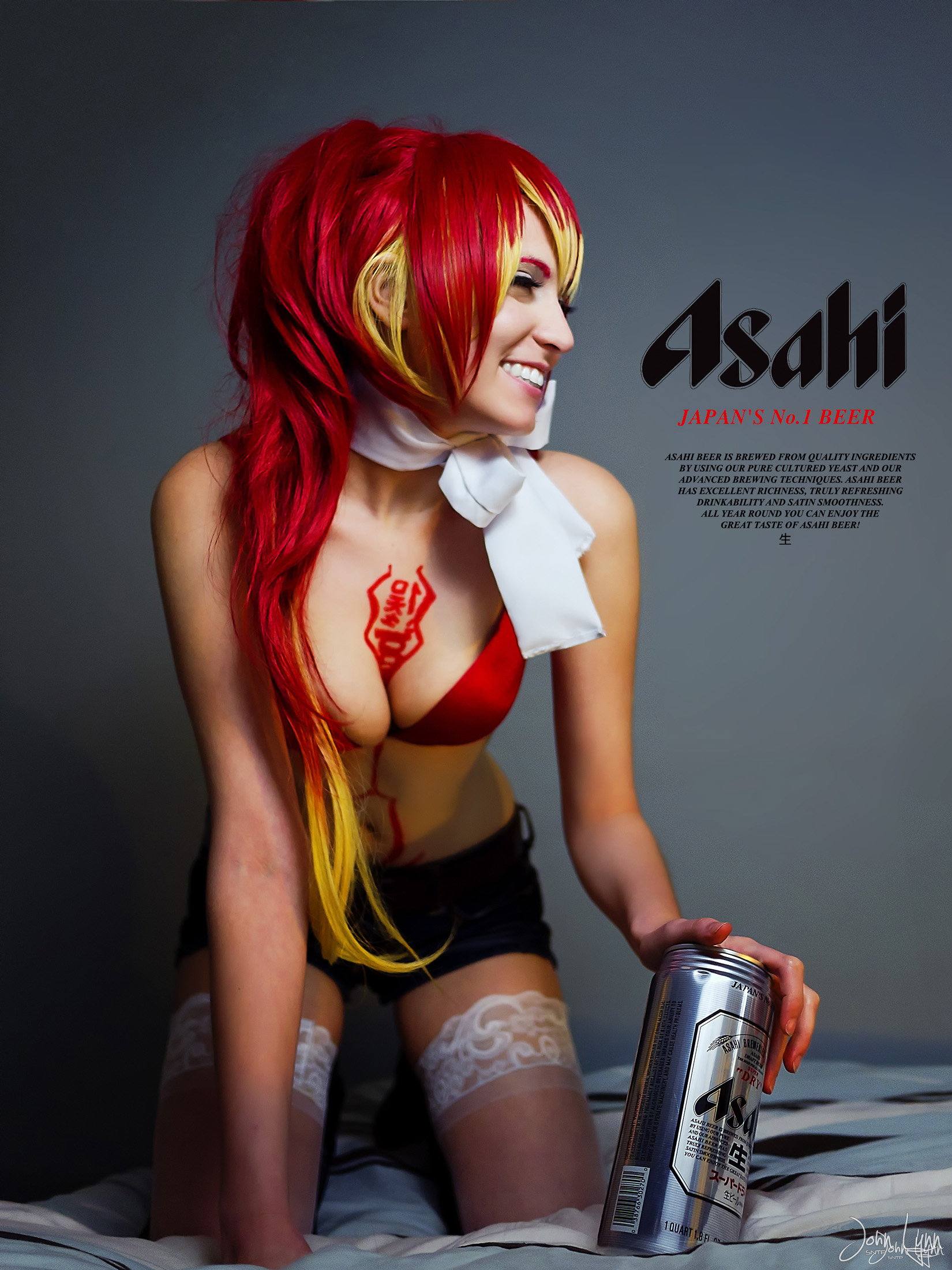 Shura from Ao No Exorcist Shoot 13 Asahi Print Ad by SNTP