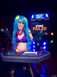 Arcade Sona Pump it Up: I guess I lose :(