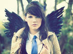 Fem Castiel from Supernatural Cosplay 3