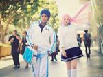 Daiki Aomine and Satsuki Momoi Cosplay 1