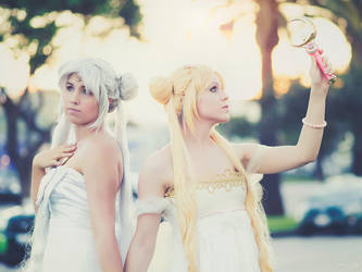 Queen Serenity and Princess Serena Tsukino Cosplay by SNTP