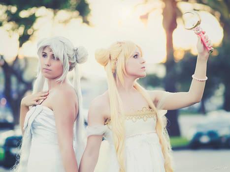 Queen Serenity and Princess Serena Tsukino Cosplay