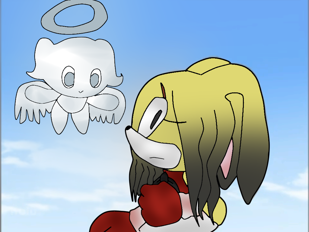 Nikki The Rabbit And Lili The Angel Chao by JellyzBeans