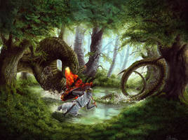 Duel in the Forest by alarie-tano