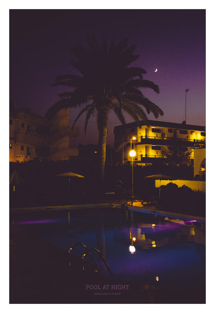 Pool At Night - Gran Canaria 2013 by synthes