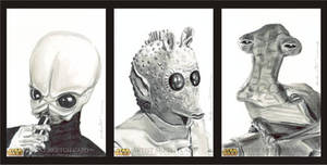 Star Wars Sketch Cards Cantina