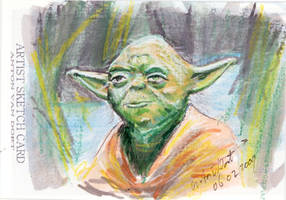 Sketch Card Yoda by antonvandort