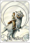 Luuk on Tauntaun - art deco