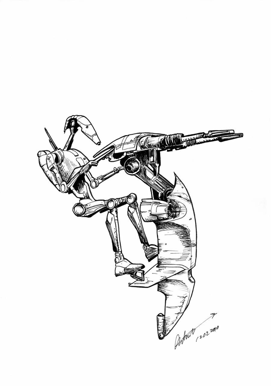 Coloring Page SW Battle Droid by antonvandort on DeviantArt