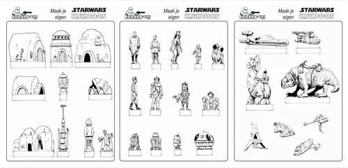 Star Wars diorama prints