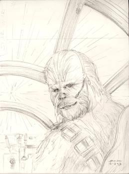 Chewie in Falcon - sketch