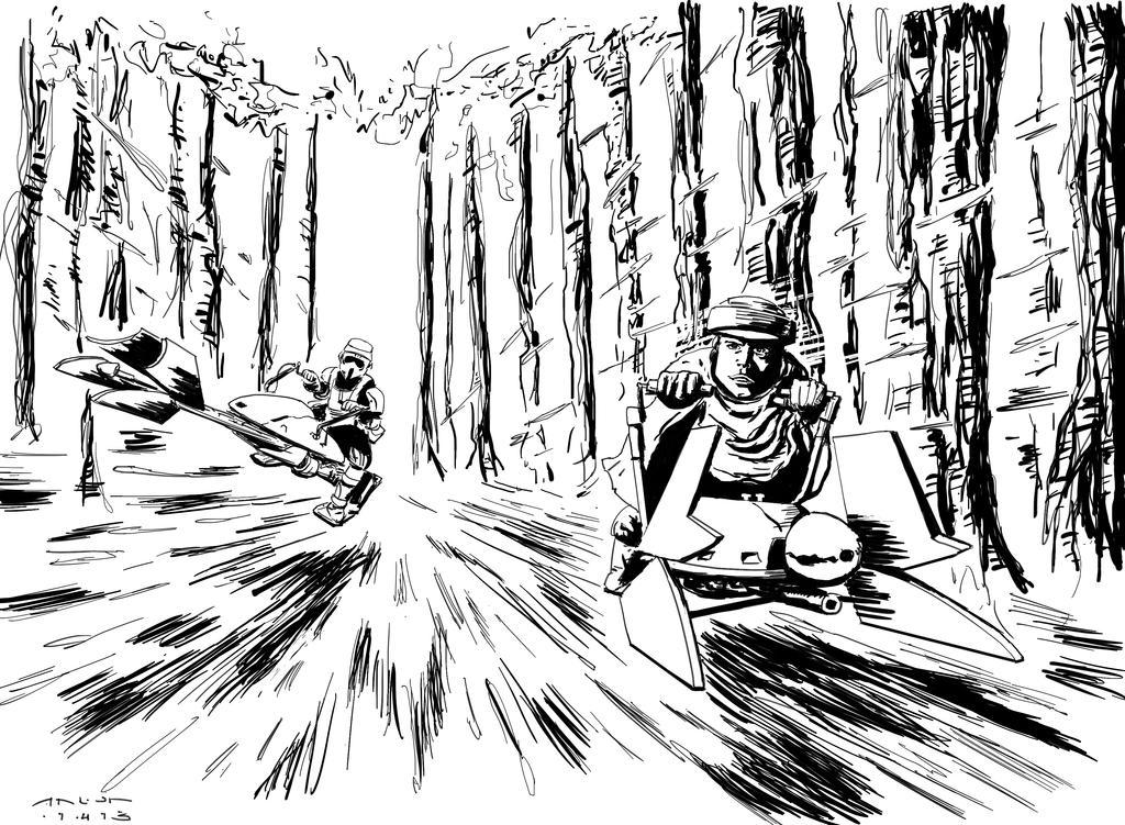 speederbikes coloring page by antonvandort