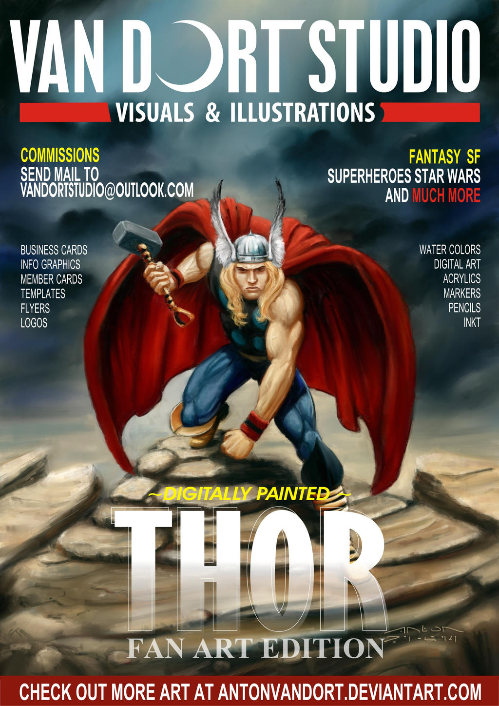 THOR magazine cover flyer by antonvandort