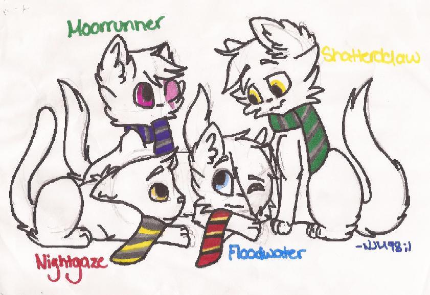 Hogwarts Kittens by NinjaMuffins1998