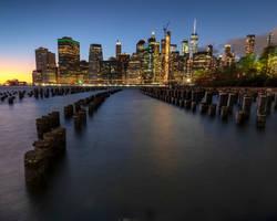 Manhattan Skyline. by gsphoto