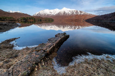 Liathach and Ben Eighe from Loch Claire. by gsphoto