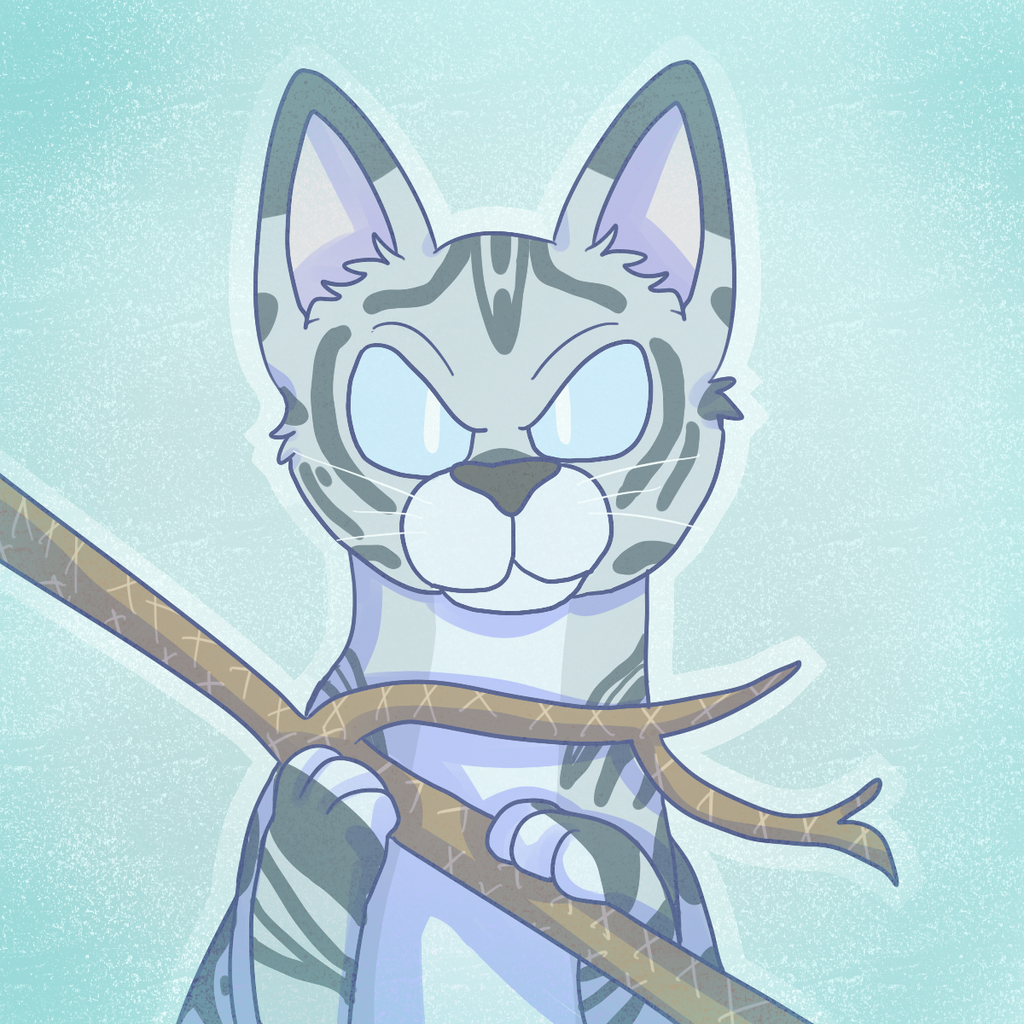 jayfeather with his stick by spurrinkles on deviantart