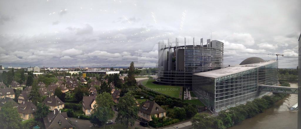 European Parliament in Strasbourg by MissCole
