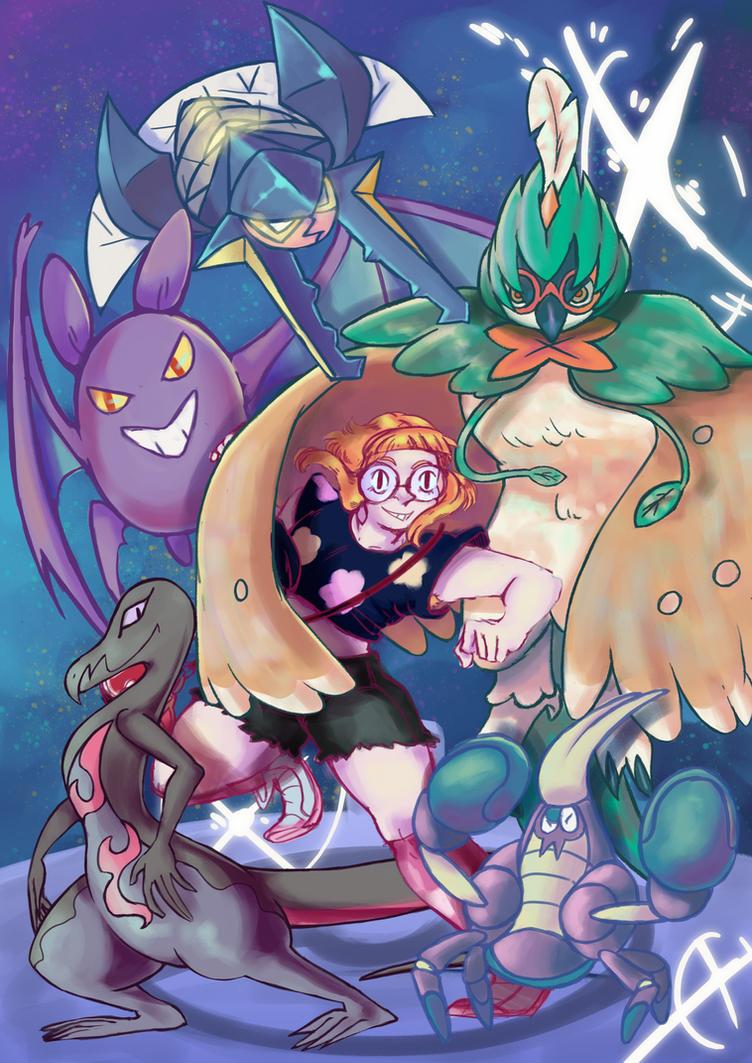 Pokemon Sun Champion Team by madiecookie