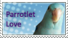 Parrotlet Love Stamp by Shulky