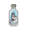 Snowdrop Bottle Pixel by Cirrue
