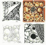Four Zentangles by roundtower