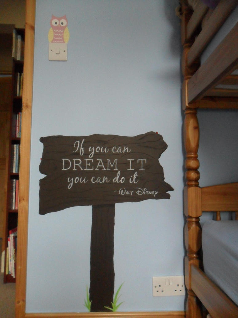 Walt disney quote wall painting by wdwfreak98 for Good quotes to paint on my wall