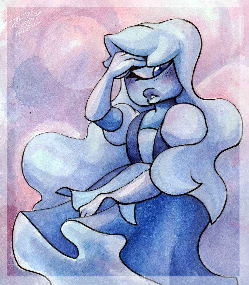 Another contest entry for SapphireAngelDragon. #SapphireAngelDragon2018Contest  This is Sapphire fron Steven Universe.