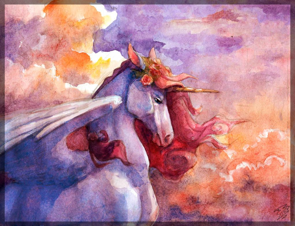 Sunset (Junicorn) by Daydream-Dragoness
