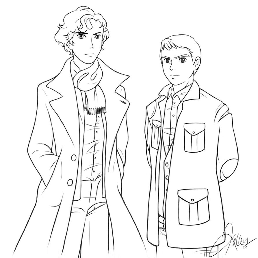 sherlock coloring pages - photo#3