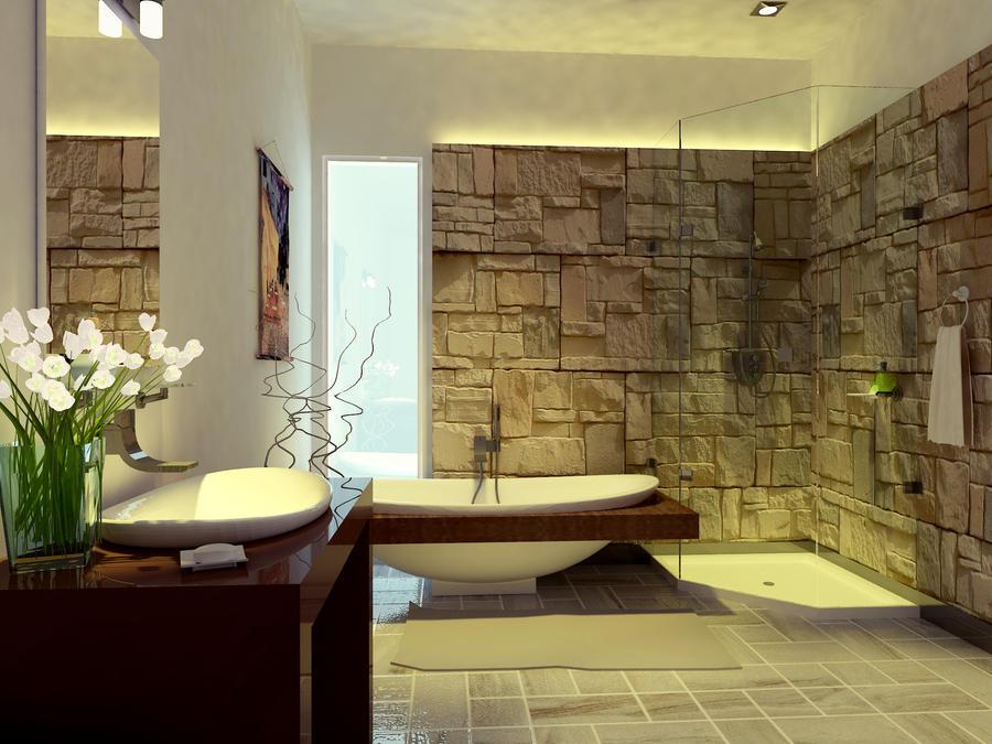 отделка ванной комнаты под мрамор фото