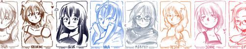 Sketch dump : Goddesses by Nabashi-Lazy