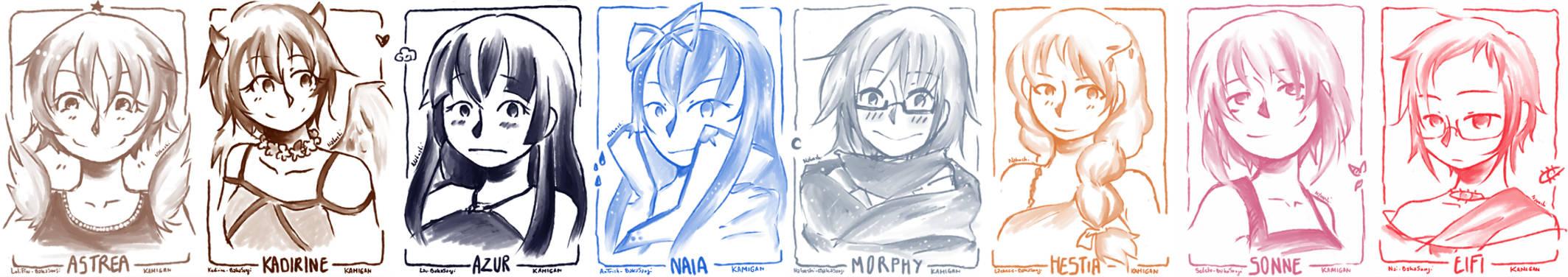 Sketch dump : Goddesses