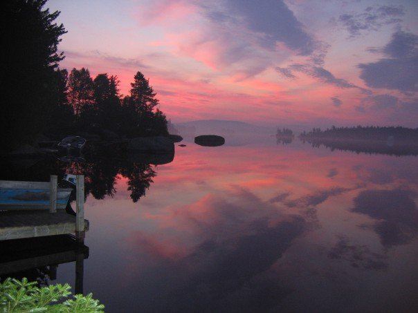 Skiff Lake, NB  Sunrise by NikNoir
