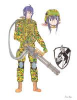 Imca with a minigun by Kira-Tsubasafan