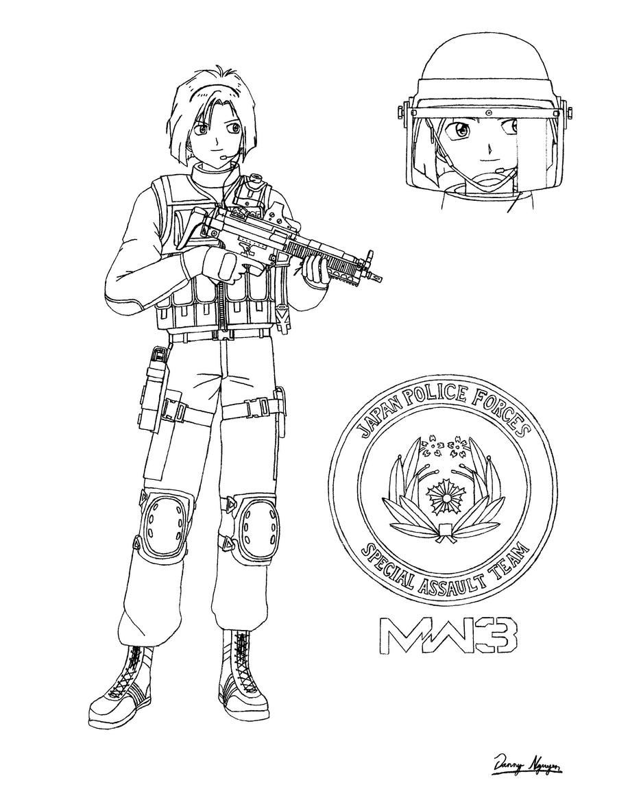 Call of duty zombies coloring pages coloring pages for Call of duty coloring page