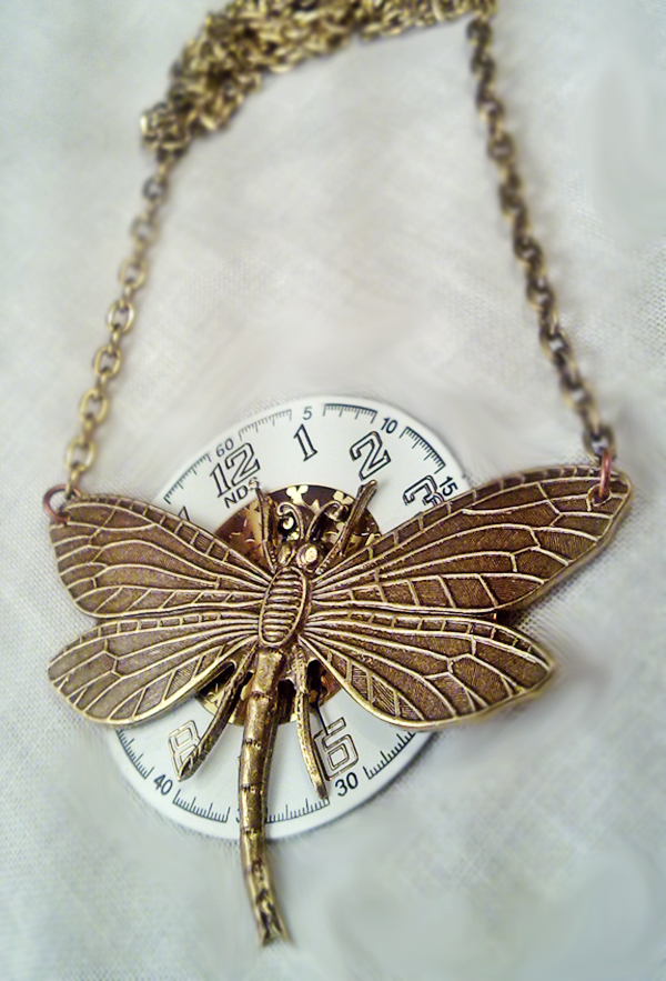 Steampunk Dragonfly Necklace by SteamDesigns on DeviantArt