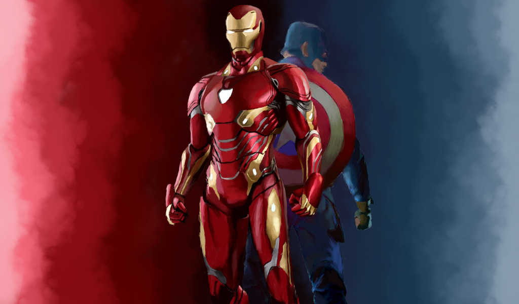 Iron Man and Captain America by Lisly227
