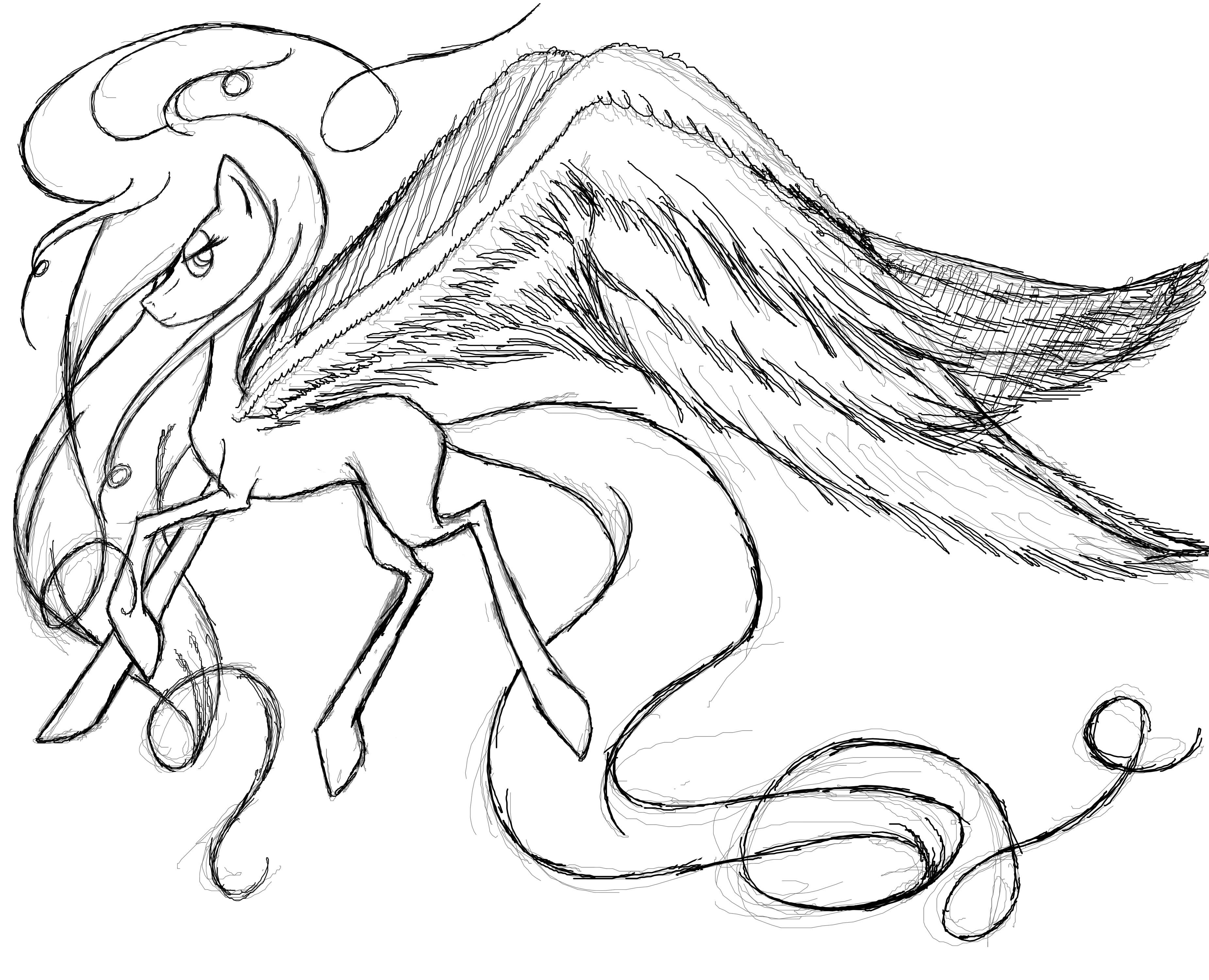 Line Art Practice : Line art pony practice by cameos equine on deviantart