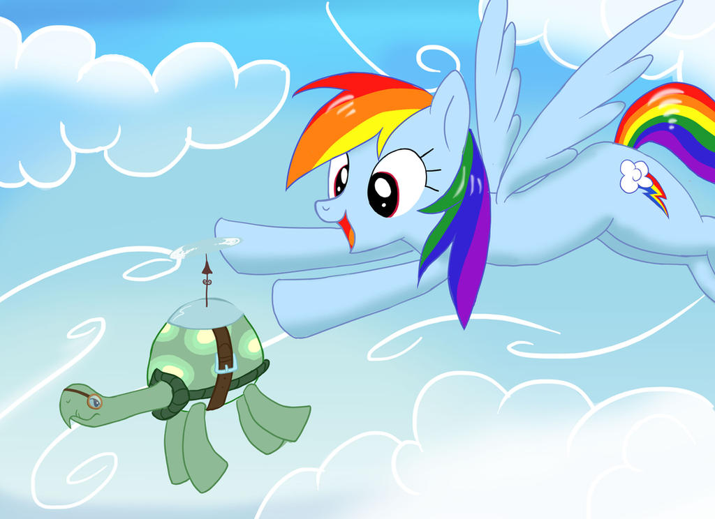 Flying with Tank by neo-shrek