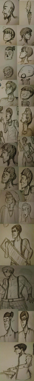 Rammstein Sketch Dump by candiiapple101
