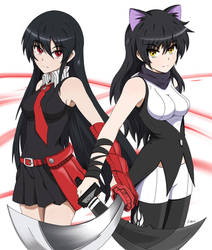 Traitorous Will! Blake and Akame by P-BOY46